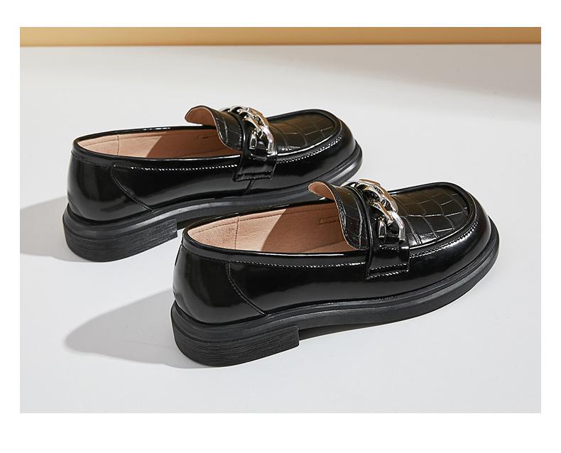 达芙妮乐福鞋女夏真皮单鞋
