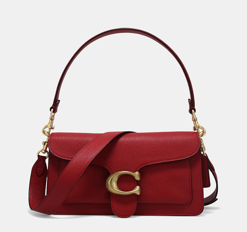 COACH/蔻驰官方 专柜款女士鹅卵石纹手提包