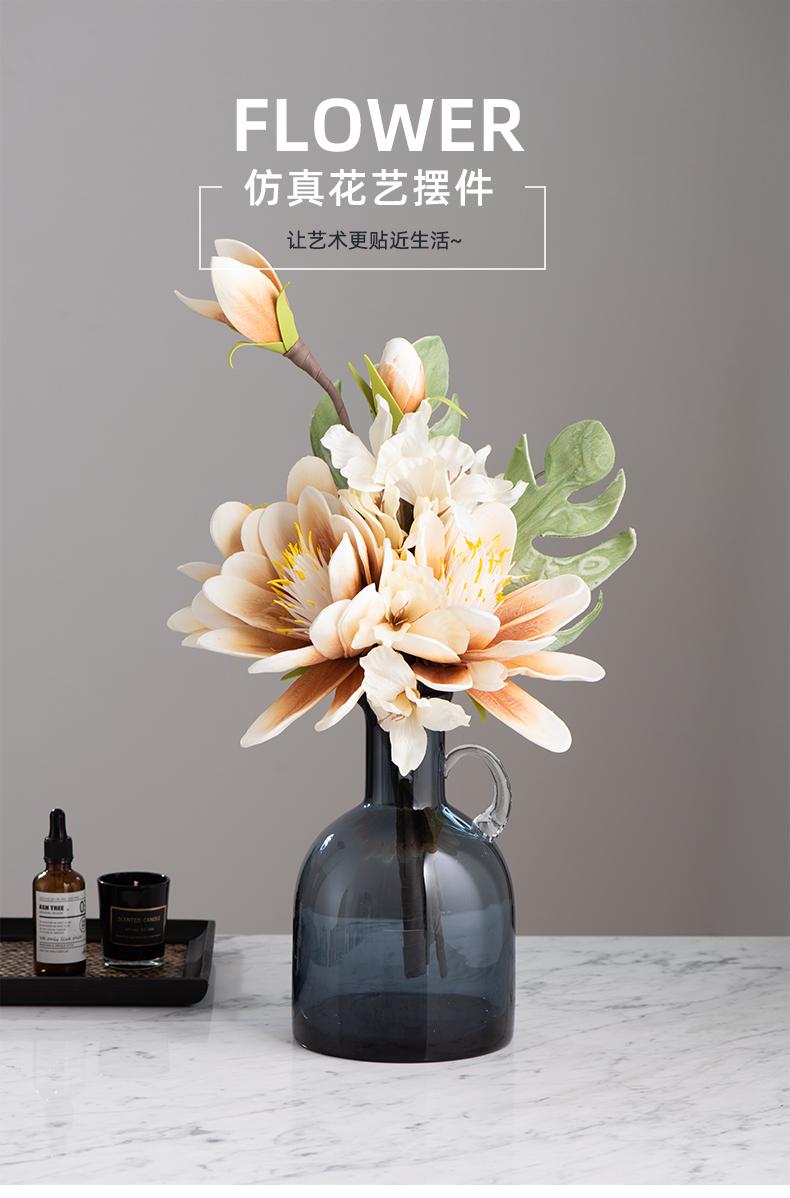 中式玉兰仿真花艺客厅玄关餐桌摆花