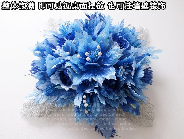Lmdec 欧式墙壁装饰假花丝网花