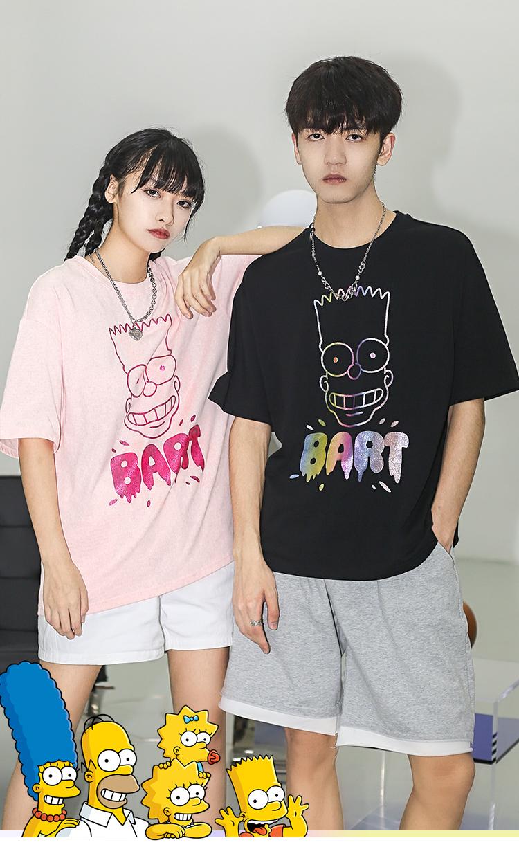 辛普森一家2021夏季新闪粉T恤短袖