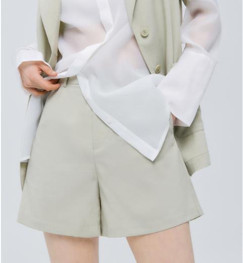2021夏新款女装凉感宽松休闲五分裤