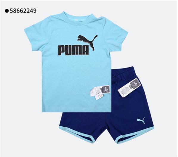 夏季新款男女婴童宝宝透气休闲短袖运动套装