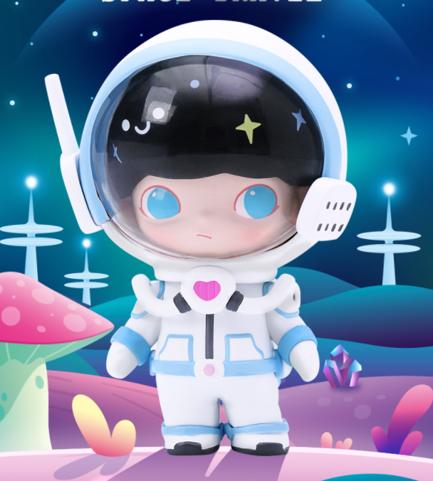 Dimoo太空旅行系列盲盒潮流玩具娃娃礼物摆件